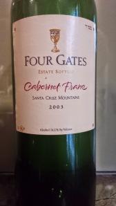 2003 Four Gates Cabernet Franc