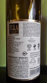 2009 Ella Valley Cabernet Franc - back label