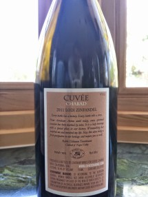 2011 Cuvee Chabad - back label