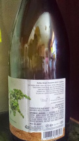 2012 Recanati Petite Sirah - side label