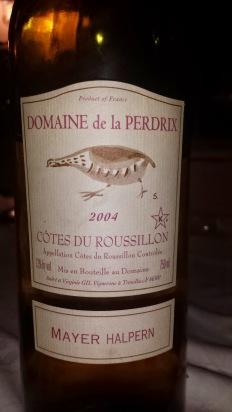 2004 Domaine de la Perdrix Cotes du Roussillon
