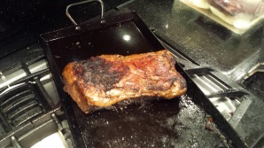 Course #9 parts - Short rib roasting on an open fire