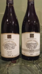 2006 and 2007 Ella Valley Syrah