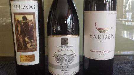 2010 Herzog Petite Sirah, Prince Vineyard and 2006 Yarden Cabernet Sauvignon