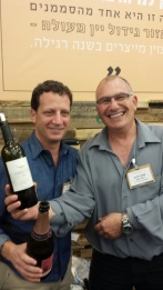 Victor Schoenfeld and Shlomo from Yarden pouring at Sommelier