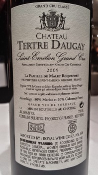 2009 Chateau Tertre Daugay, Saint Emilion, Grand Cru - bl