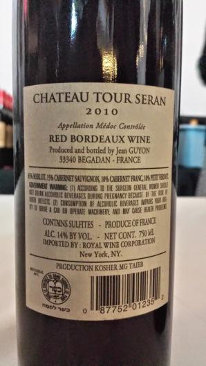 2010 Chateau Tour Seran, Medoc - bl