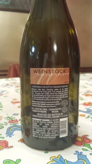 2010 Weinstock Cellars Chardonnay Select - bl