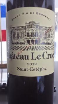 2012 Chateau Le Crock, Saint Estephe