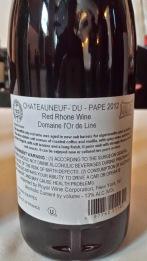 2012 Domaine L'or de Line, Chateauneuf du Pape - bl