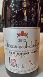 2012 Domaine L'or de Line, Chateauneuf du Pape