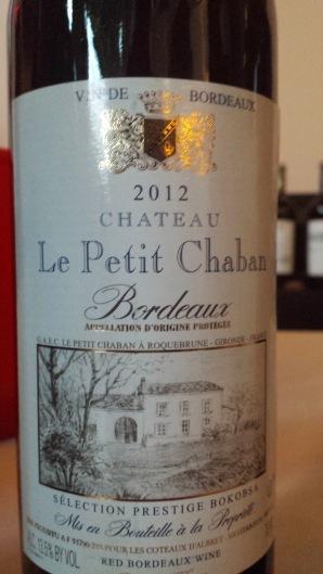 2012 Le Petit Chaban