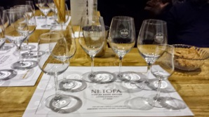 Netofa Winery Tasting Room glasses