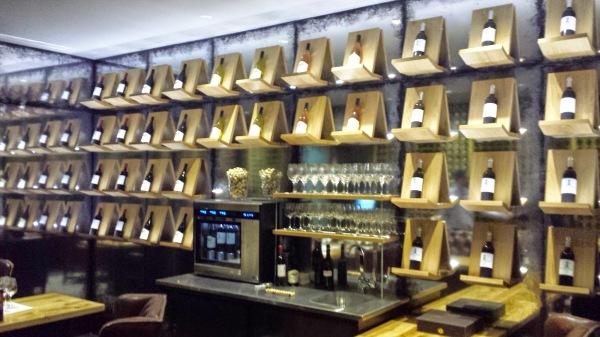 Netofa Winery Tasting room wine display wall