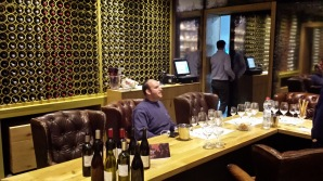 Netofa Winery Tasting room wine wall