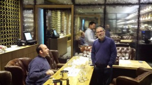 With GG and Pierre at Netofa Winery Tasting Room