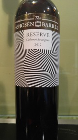 2012 The Chosen Barrel Cabernet Sauvignon, reserve