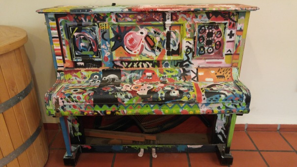 A lovely pained piano in Tabor winery
