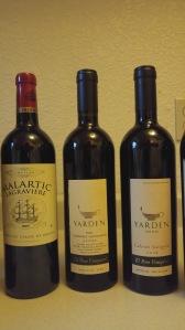 2001 Yarden El Rom, 2008 Yarden El Rom, 2005 Chateau Malartic