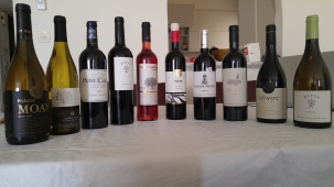 Wine lineup for Passover