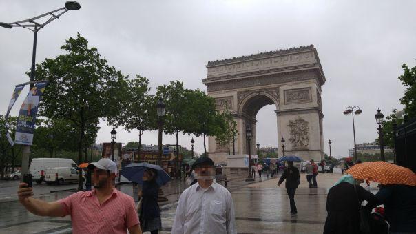 Arc de Triomphe on a rainy day