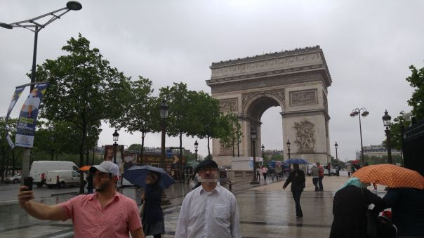 Arc de Triomphe on a rainy day