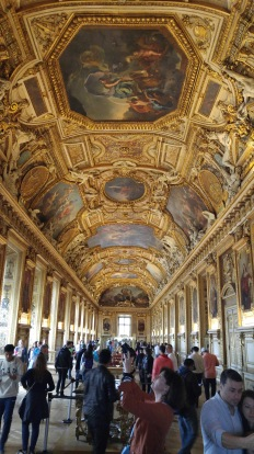 louvre Collonade halway with insane frescos 2
