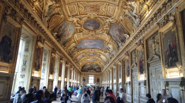 louvre Collonade halway with insane frescos
