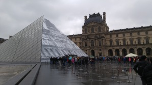 The Louvre Pyramid and lines