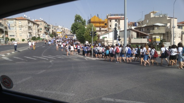 Yom Yerushalayim Parade we drove through