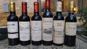 half-bottles-of-2005-chateau-la-clare-2005-chateau-moulin-de-noaillac-2003-chateau-labegorce-zede-2003-domaine-du-castel-grand-vin-2003-chateau-rollan-de-by-2003-chateau-haut-condissas-le-cadet