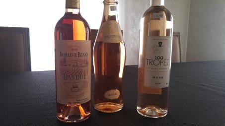 2016 Bandol Rose, 2016 100 Tropez Rose, 2016 Almae Rose