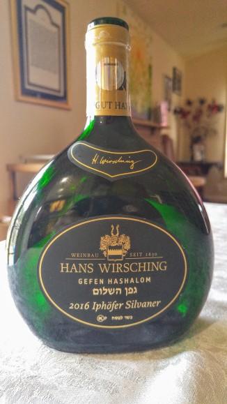 2016 Hans Wirsching Iphöfer Silvaner Troken, Gefen Hashalom