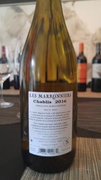 2016 Les Marronniers Chablis - bl