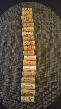 All the corks from the French wines
