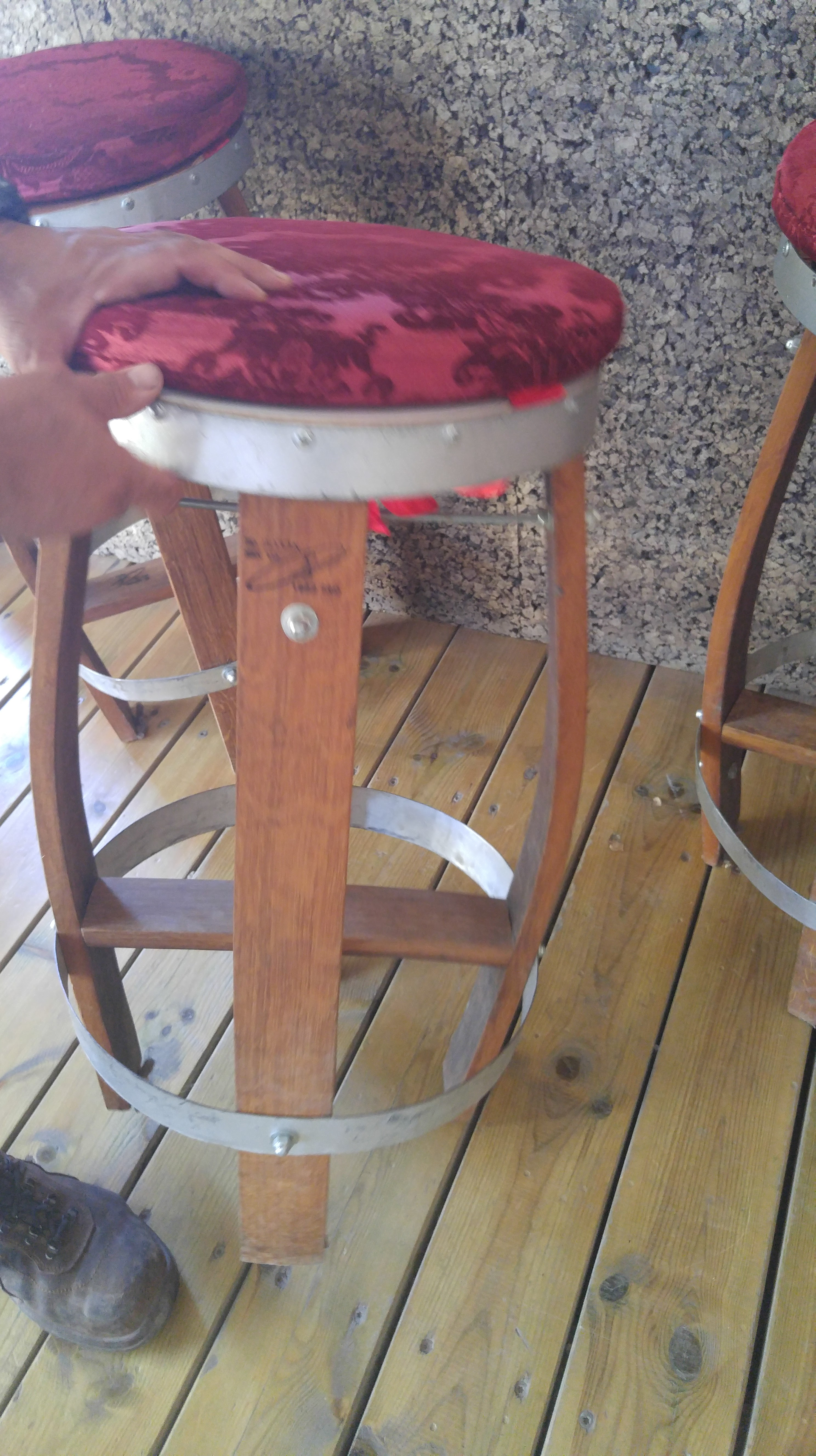 Chairs Made Out Of Barrels Wine Musings Blog