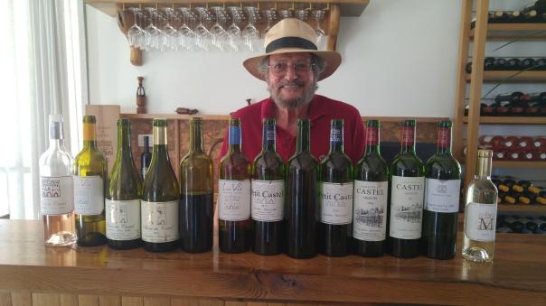 2016 Domaine du Castel Rose, 2016 LaVie Blanc du Castel, 2014 & 2016 Blanc du Castel C, 2015 & 2016 lave Rouge du Castel, 2012 & 2015 & 2016 Petit Castel, 2015 & 2016 Grand Vin du Castel