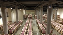 Domaine du Castel Winery barrel room