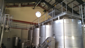 Domaine du Castel Winery tanks 2