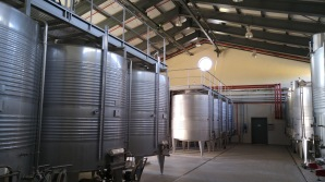 Domaine du Castel Winery tanks