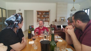 Eli Ben Zaken - in Castel Winery's tasting room