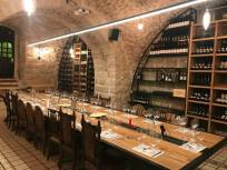 Wine Temple table and wall