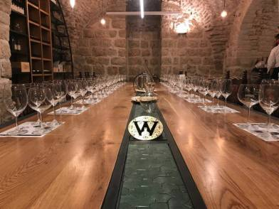 Wine Temple table