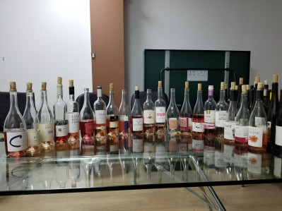 20 rose wines from Israel at the tasting