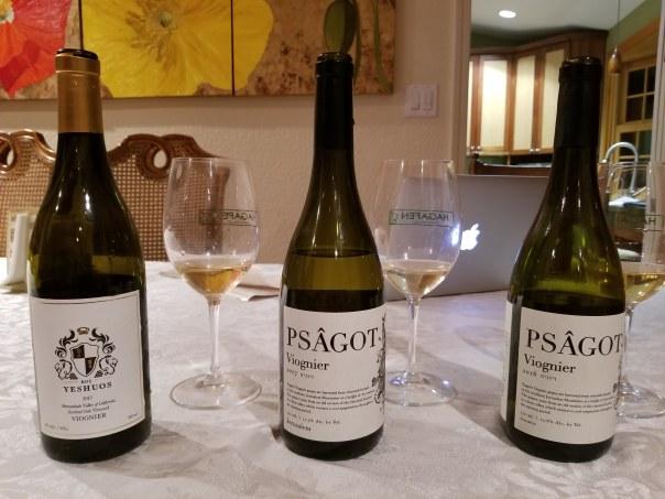 2016 Psagot Viognier, 2017 Psagot Viognier, 2017 Kos Yeshuos Viognier