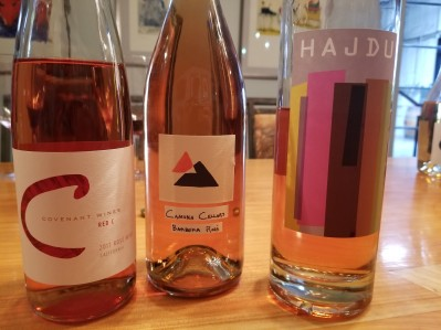 2017 Covenant Wines Red C Rose, 2017 Camuna Cellars Rose, 2017 Hajdu Rose