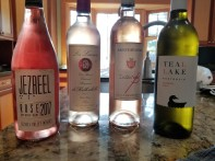 2017 Jezreel Valley Winery Rose, 2017 Barons Edmund et Benjamin de Rothschild La Lauriers Rose, 2016 Sainte Beatrice Instant B