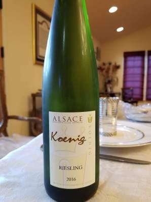 2016 Koenig Riesling, Alsace