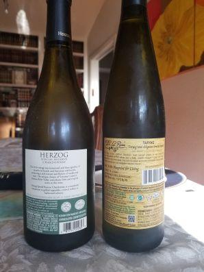 2017 De La Rosa Gruner Veltliner, Taryag and 2016 Herzog Winery Chardonnay, Special Reserve - bl