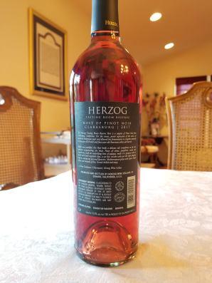 2017 Herzog Rose of Pinot Noir, Tasting Room Reserve, Clarksburg - bl
